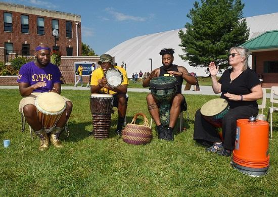 African drumming welcoming students