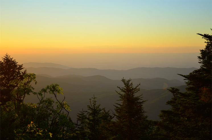 Sunset over the Appalachians, Roan Highlands, Tennessee/North Carolina Border