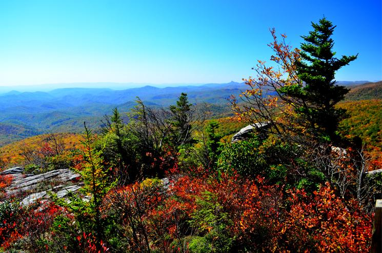 View of the Blue Ridge Mountains from Rough Ridge, Grandfather Mountain State Park, Linville