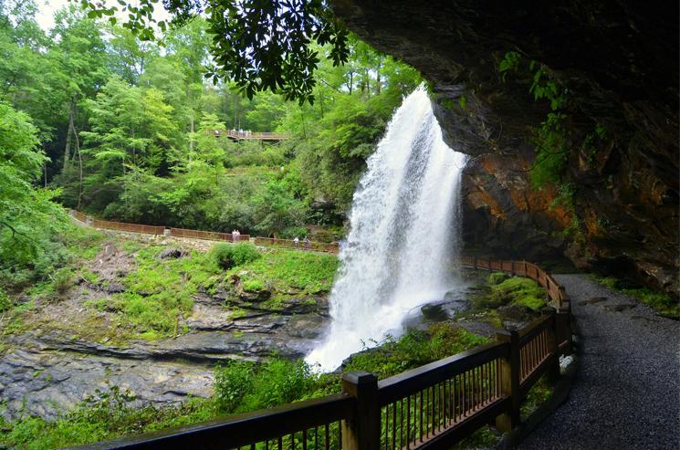 Dry Falls, 75 feet tall, Nantahala National Forest, Highlands