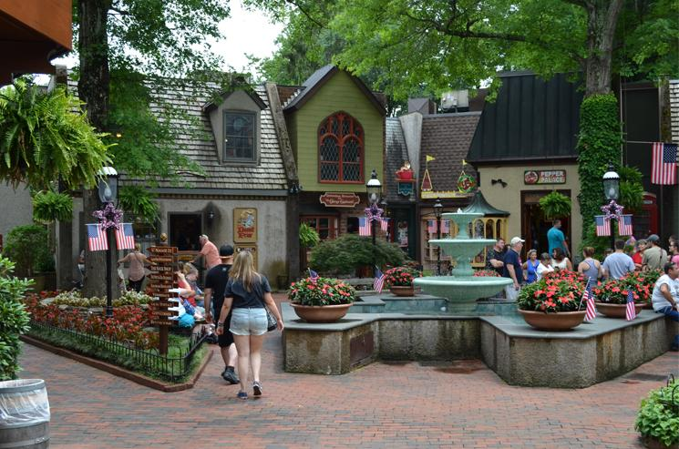 Shopping in the galleries and stores of Gatlinburg, Gateway to the Great Smoky Mountains National Park