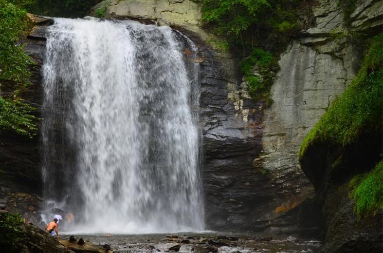 Looking Glass Falls (60 ft.) Pisgah Forest, Brevard