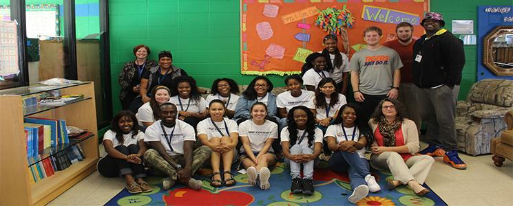 Group picture with the Johnson City Boys and Girls Club staff members