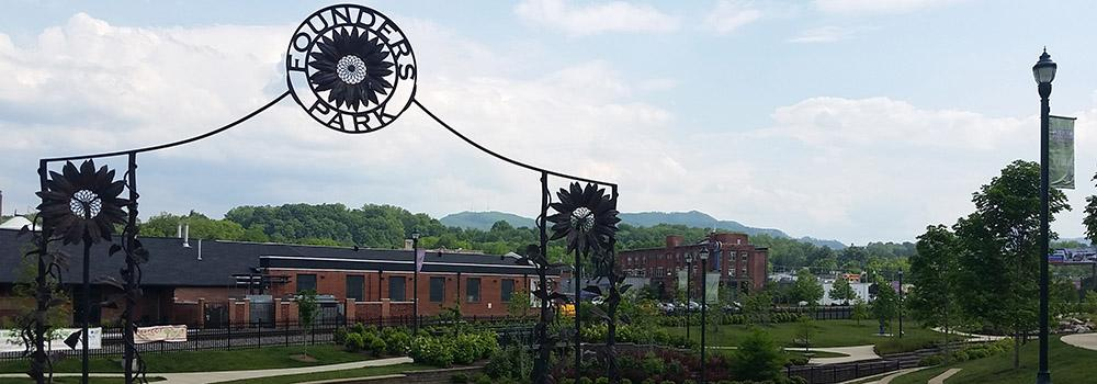 Live music, festivals and a farmer's market are held at Founders Park in downtown Johnson City