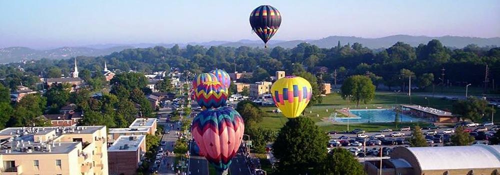 Watch hot air balloons float above Kingsport during FunFest.
