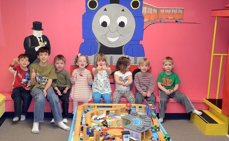 Birthday Party in the Little Engineers Room