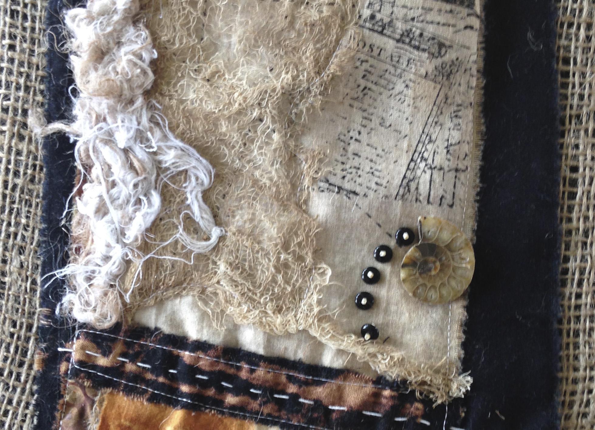 Detail of fiber art