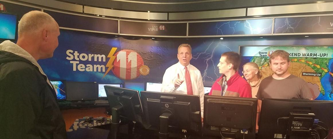 David Jennings and his students take a behind the scenes look at the WJHL studio.