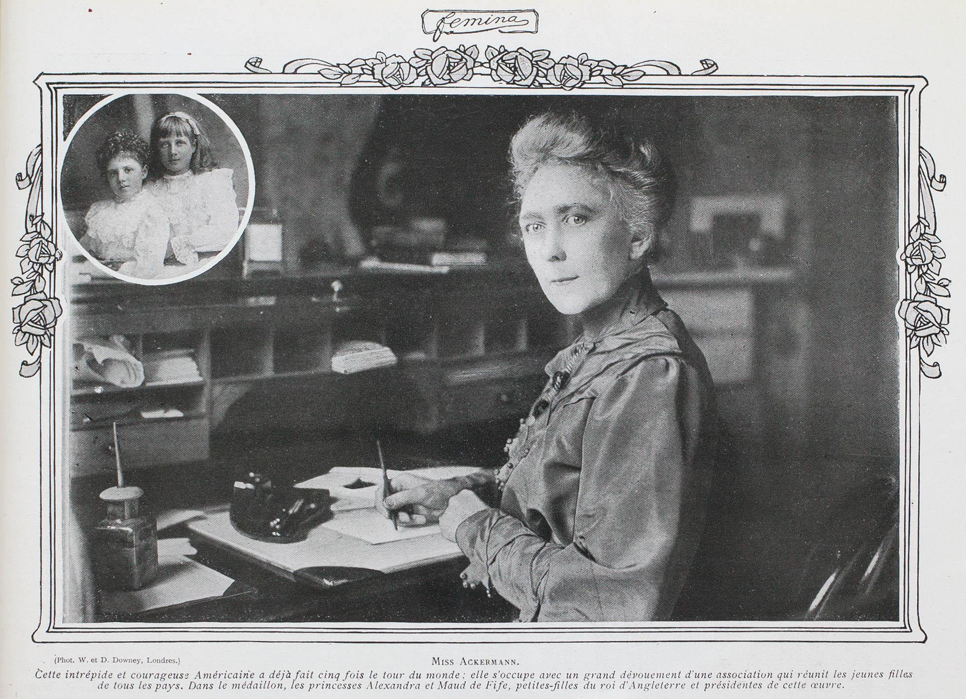 Ackermann at her desk.