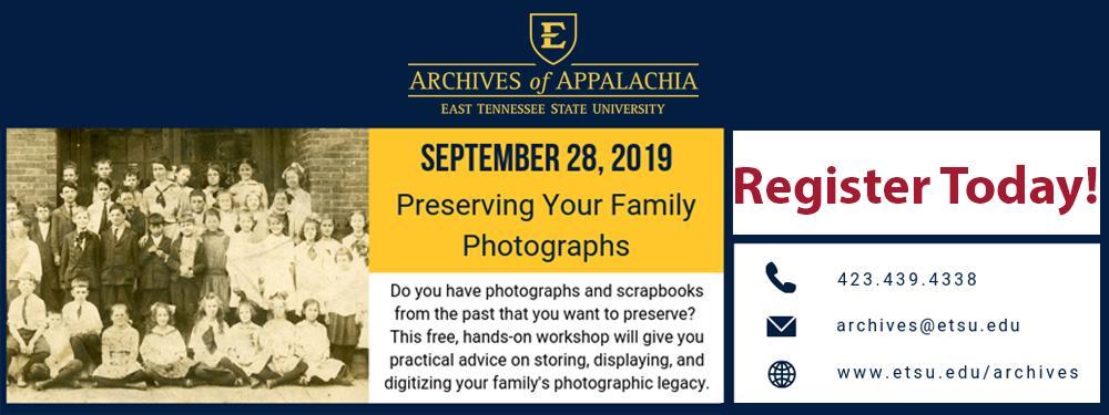 Photographic Preservation Workshop: September 28, 2019