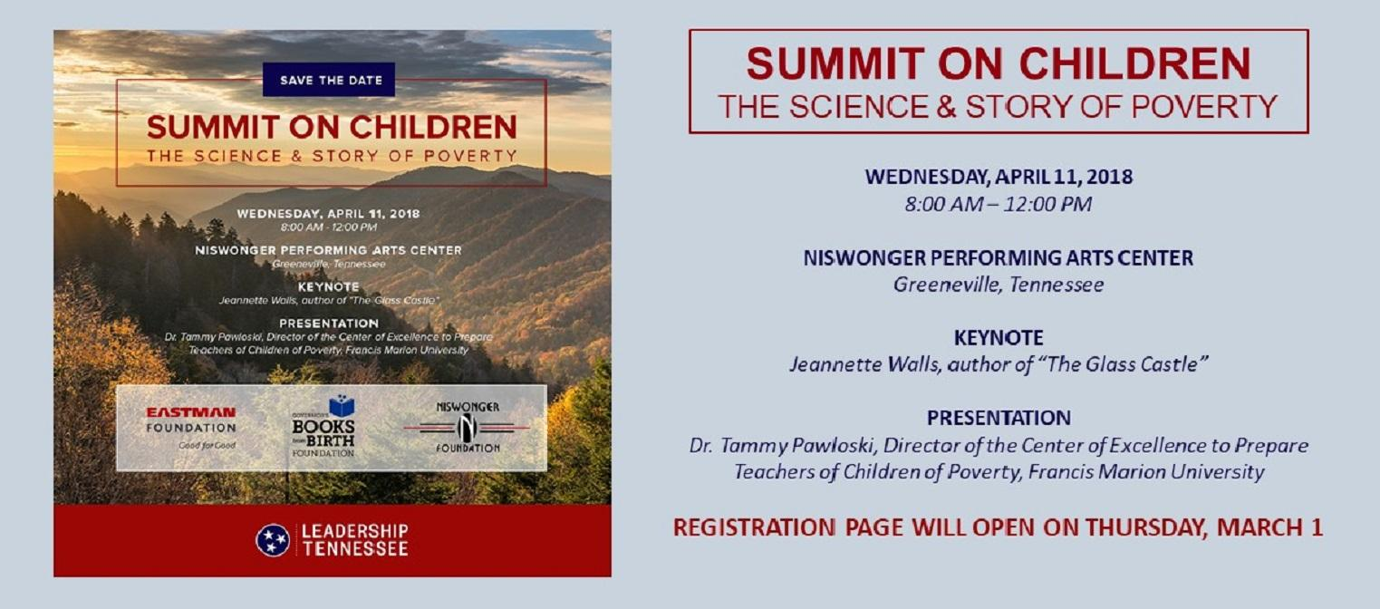 Summit on ChildrenRegistration Link opening March 1st