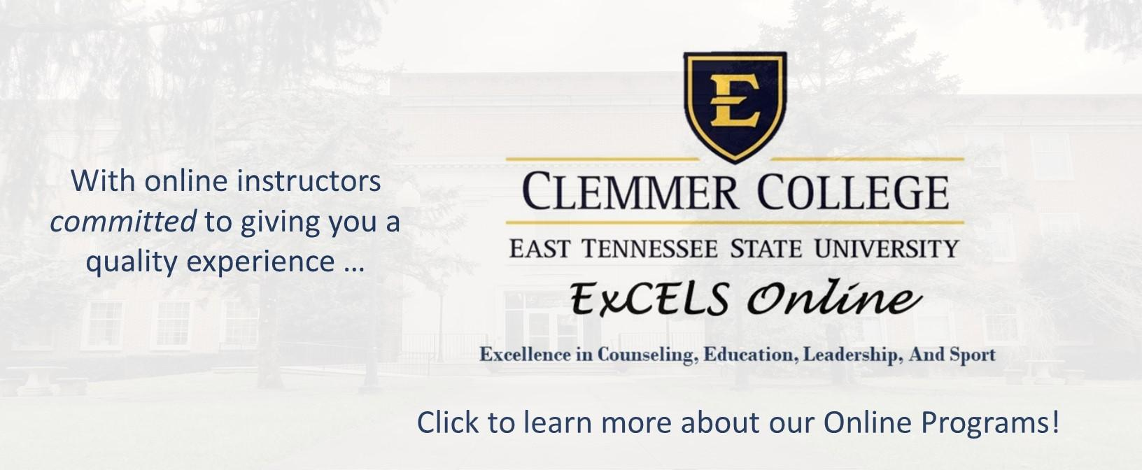 Clemmer College Online Programs  Click to access list
