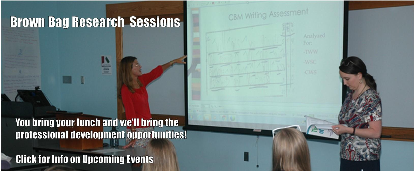 Brown Bag Research sessions information and link