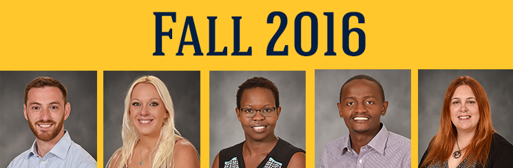 Fall 2016 Doctoral Students