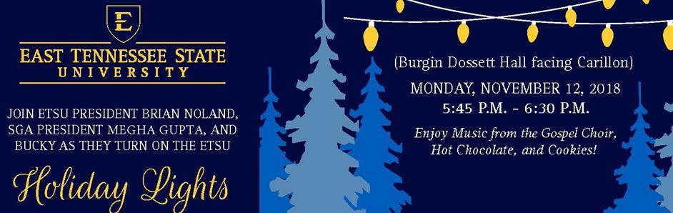ETSU Holiday Lights