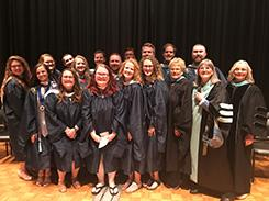 2017 Graduation Ceremony Group Photo of MAT Students and Faculty