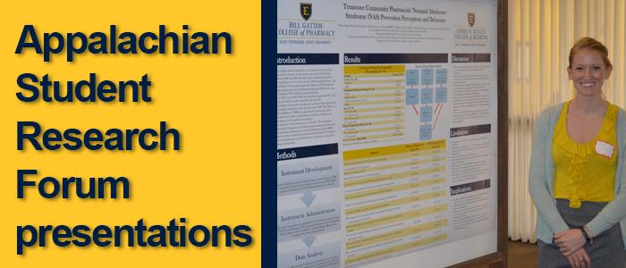 Appalachian Student Research Forum presentations