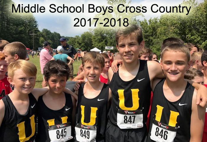 2017-2018 Middle School Boys Cross Country