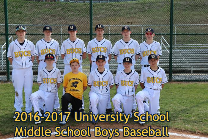 2016-2017 Middle School Boys Baseball