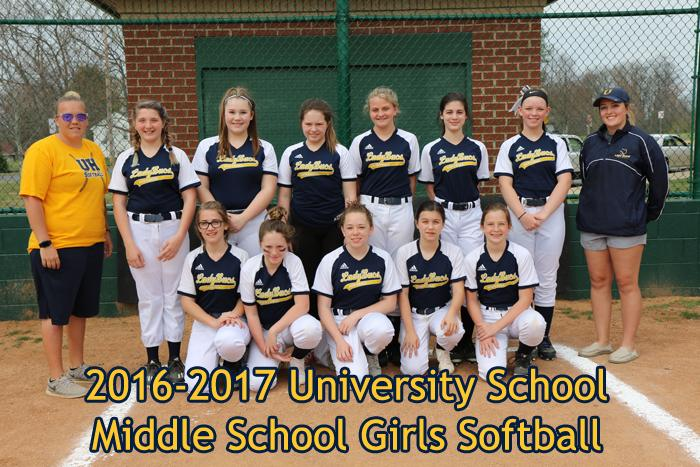 2016-2017 Middle School Girls Softball
