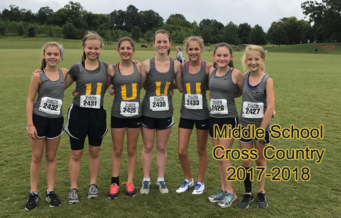 2017-2018 Middle School Girls Cross Country