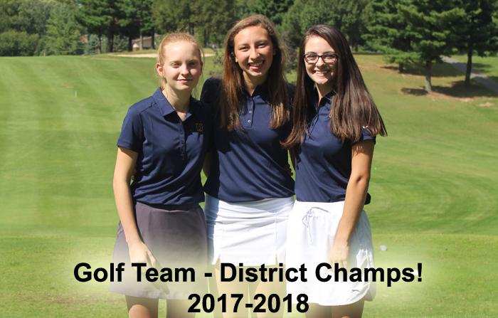 2017-2018 High School Golf Girls  - District Champs