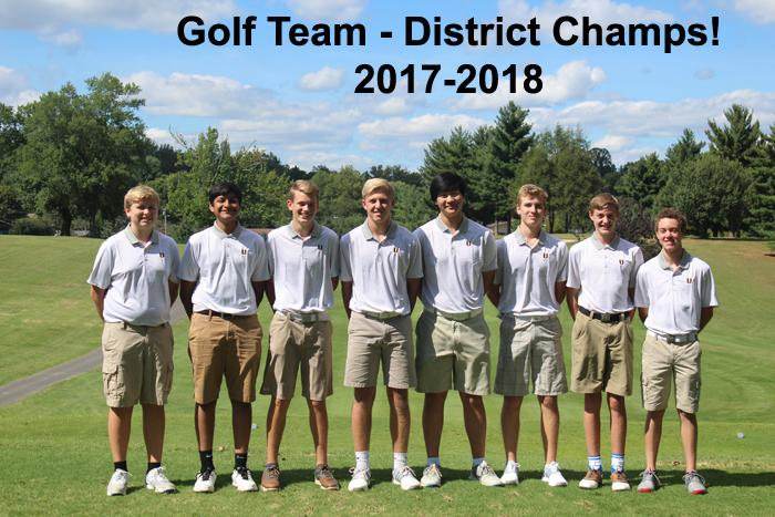 2017-2018 High School Golf Boys - District Champs