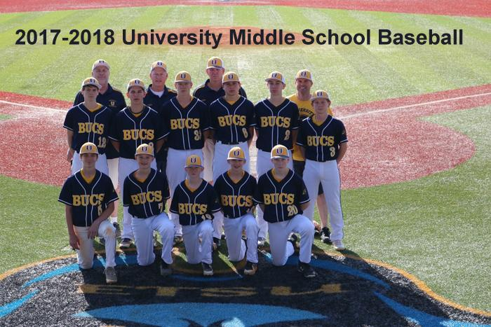 2017-2018 Middle School Baseball