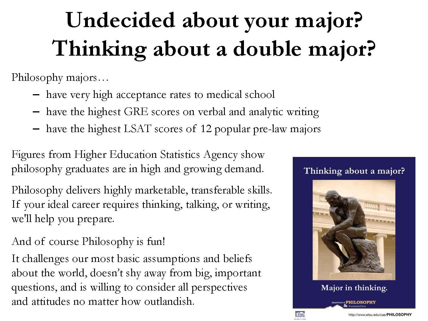 Undecided about your major?
