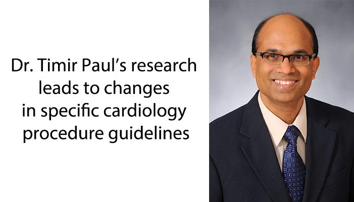 Faculty member's research leads to changes in guidelines
