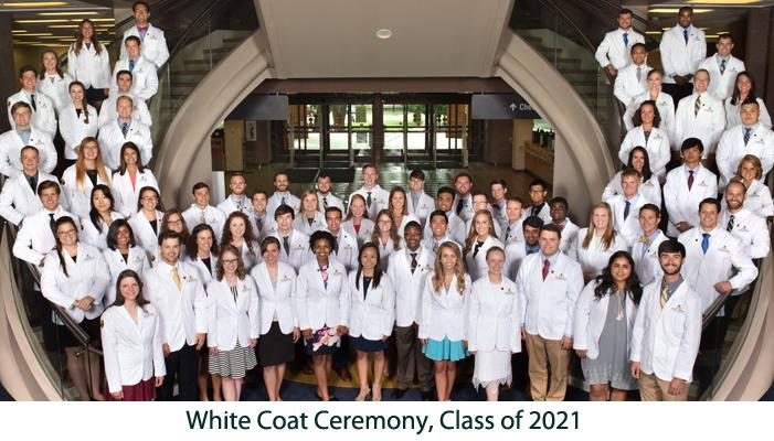 White Coat Ceremony, Class of 2021