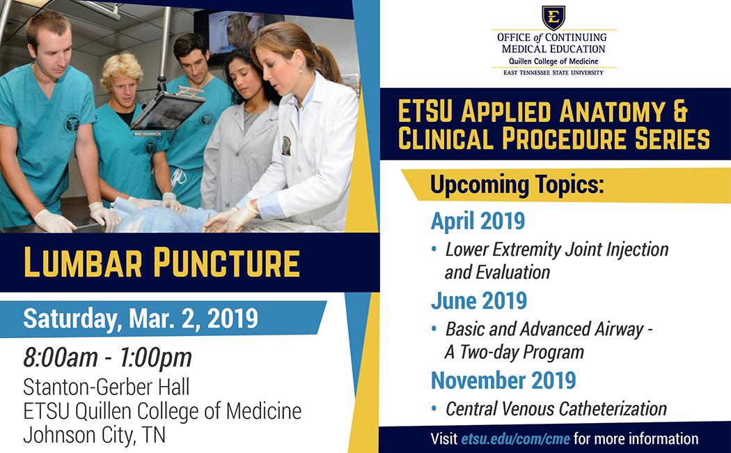 ETSU Applied Anatomy & Clinical Procedures: Lumbar Puncture