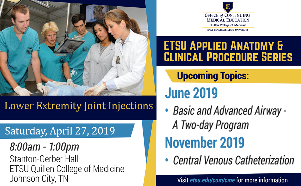 ETSU Applied Anatomy & Clinical Procedures:Lower Extremity Joint Injections