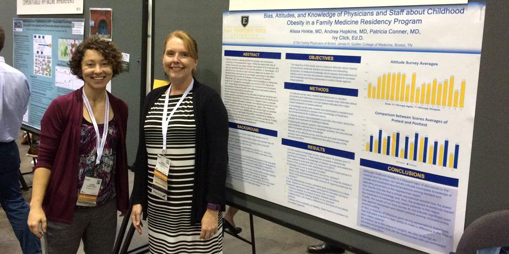 Family Medicine residents regularly participate in scholarly activities and present their findings