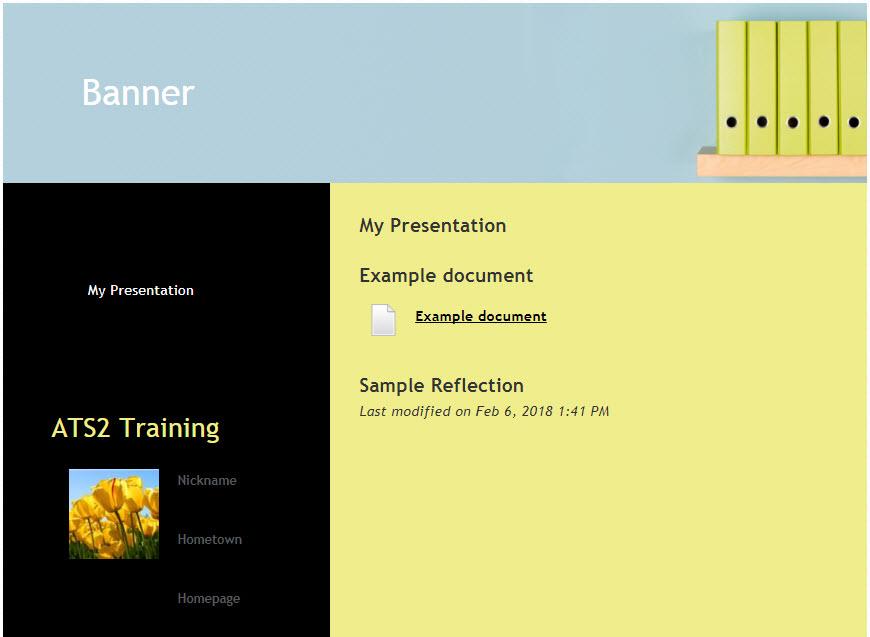 Image of an ePortfolio presentation
