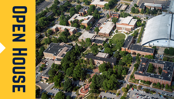 birds eye view of ETSU campus