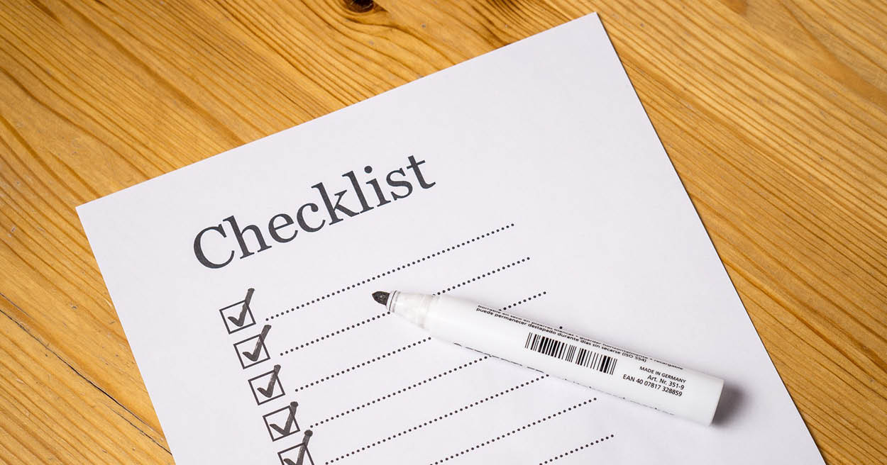 decorative image for Checklist of Requirements