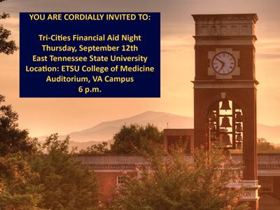 Tri-Cities Financial Aid Night - Senior Announcements