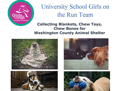 Girls on the Run Team Charity Drive for Animal Shelter