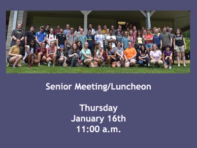 Senior Meeting-Luncheon, Thursday, January 16th