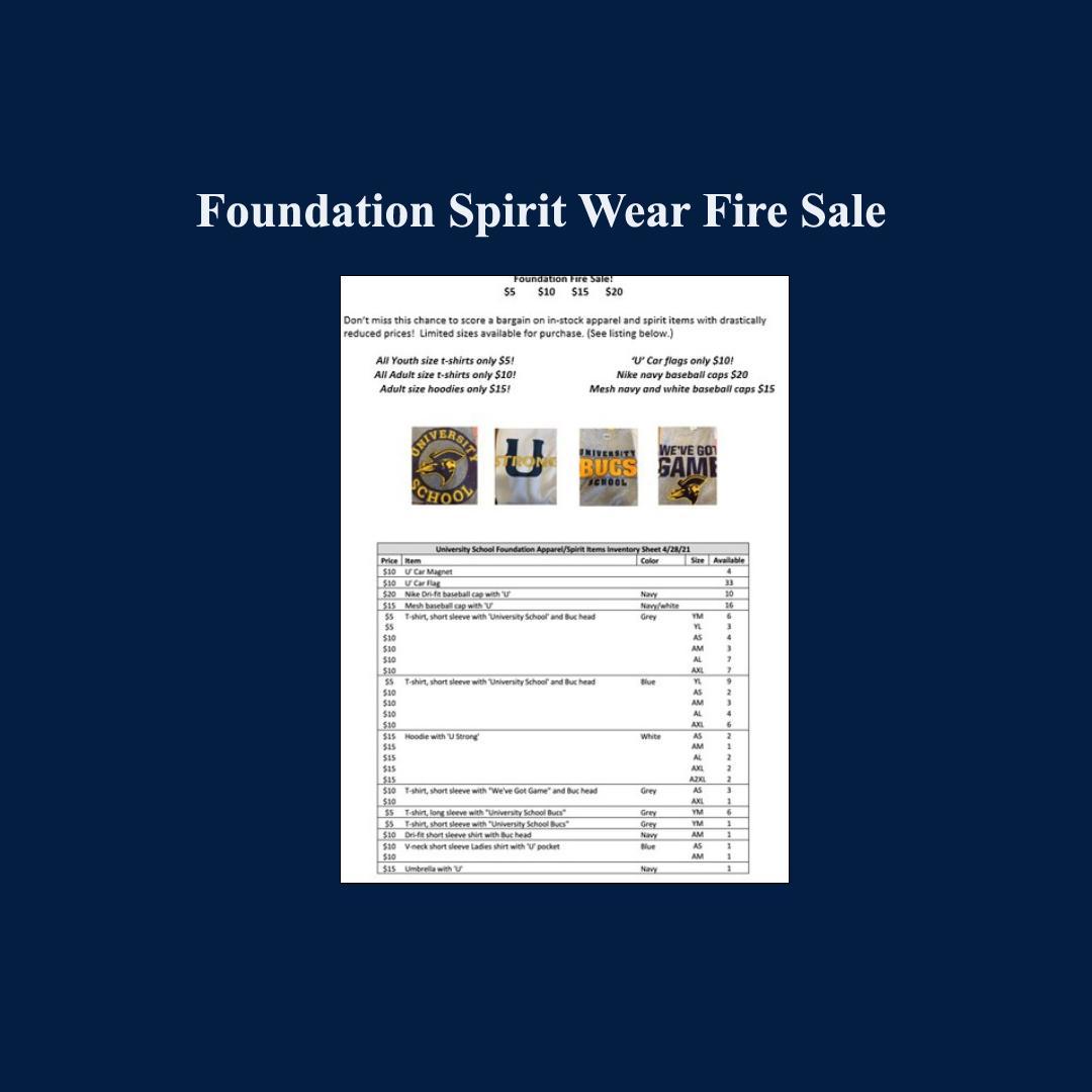 Foundation Spirit Wear Fire Sale
