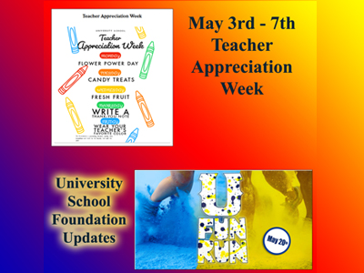 US Foundation Updates and Teacher Appreciation Week