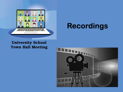 Recordings for Town Hall Meeting
