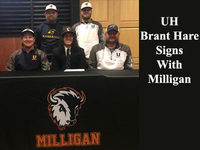 UH Brant Hare Signs to Play Baseball at Milligan