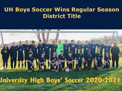 HS Boys Soccer Wins Regular Season District Title