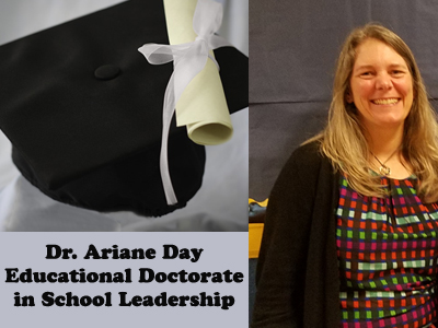 Day Receives Educational Doctorate in School Leadership